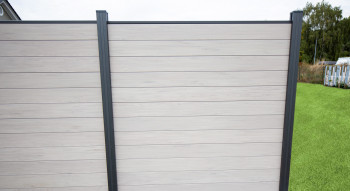 planeo Solid - Gartenzaun Quadratisch BiColor Weiß