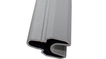 planeo Solid Grande - Lisenenprofil Silbergrau