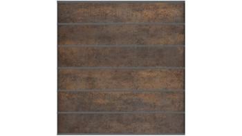planeo Stonefence - Keramik-Steckzaun Quadratisch Rostoptik 181,5 x 183