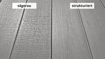 planeo TitanWood - Massivdiele Holzstruktur grau