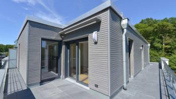 planeo Fassado - WPC Rhombusleiste Fassadenverkleidung Graphitgrau