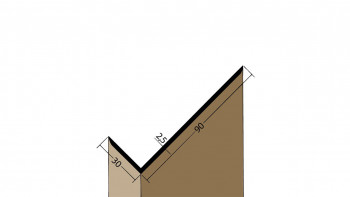 planeo Protect Winkelprofil - WP 30x90x2500mm weiß