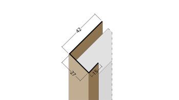 planeo Protect Abschlussprofil - AP 27mm Aufnahme 2500mm Länge schwarz