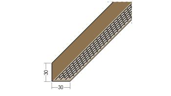 planeo Protect Lüftungswinkelprofil - LÜW 30x30x2500mm braun