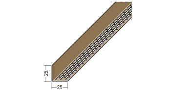 planeo Protect Lüftungswinkelprofil - LÜW 25x25x2500mm weiß