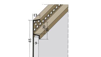 planeo Protect Traufenlüftungsprofil - TL 9mm Aufnahme 2500mm Länge schwarz