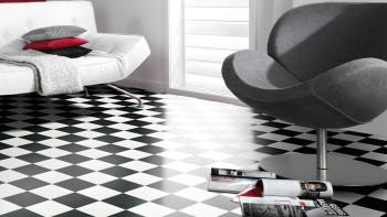 Gerflor PVC-Boden - CLEVER/FOCUS DAMIER BLACK & WHITE - 0115