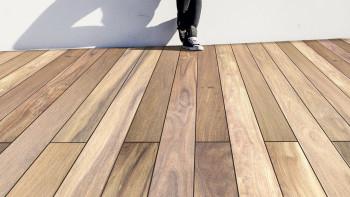 TerraWood Holzterrasse - CUMARU CHAMPAGNE PRIME 21 x 120mm beidseitig glatt