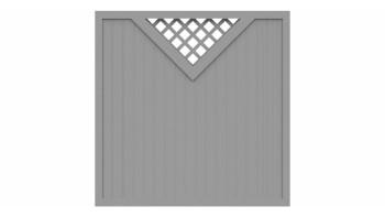 planeo Basic Typ B 180 x 180 cm Silbergrau
