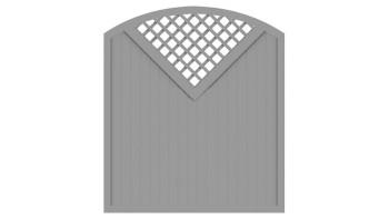 planeo Basic Typ G 180 x 205 cm Silbergrau