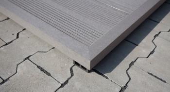 planeo WPC-Winkelleiste grau für Terrassendielen - 2.2m
