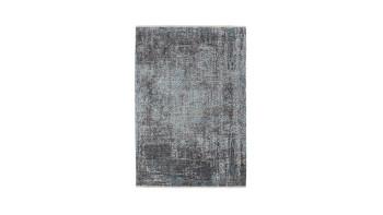 planeo Teppich - Antigua 300 Grau / Türkis
